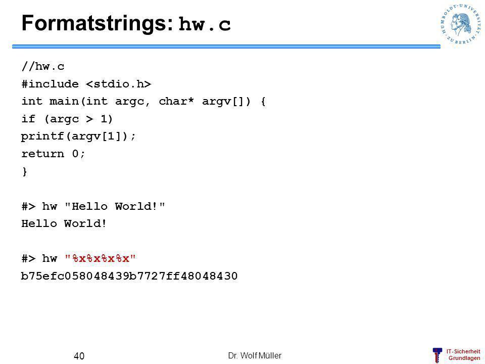 Formatstrings: hw.c