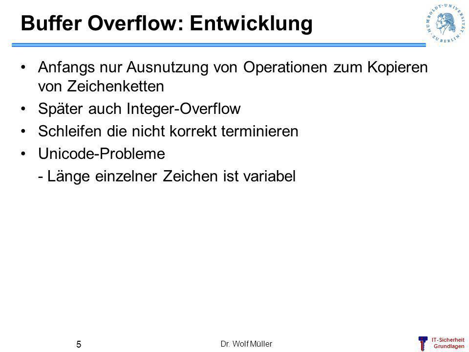 Buffer Overflow: Entwicklung
