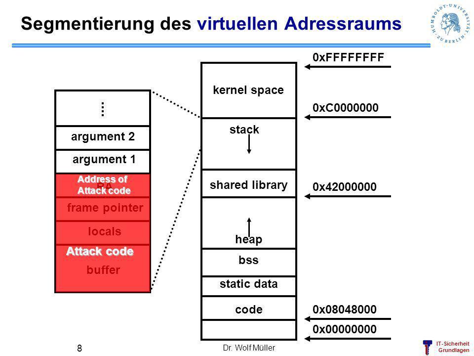 Segmentierung des virtuellen Adressraums