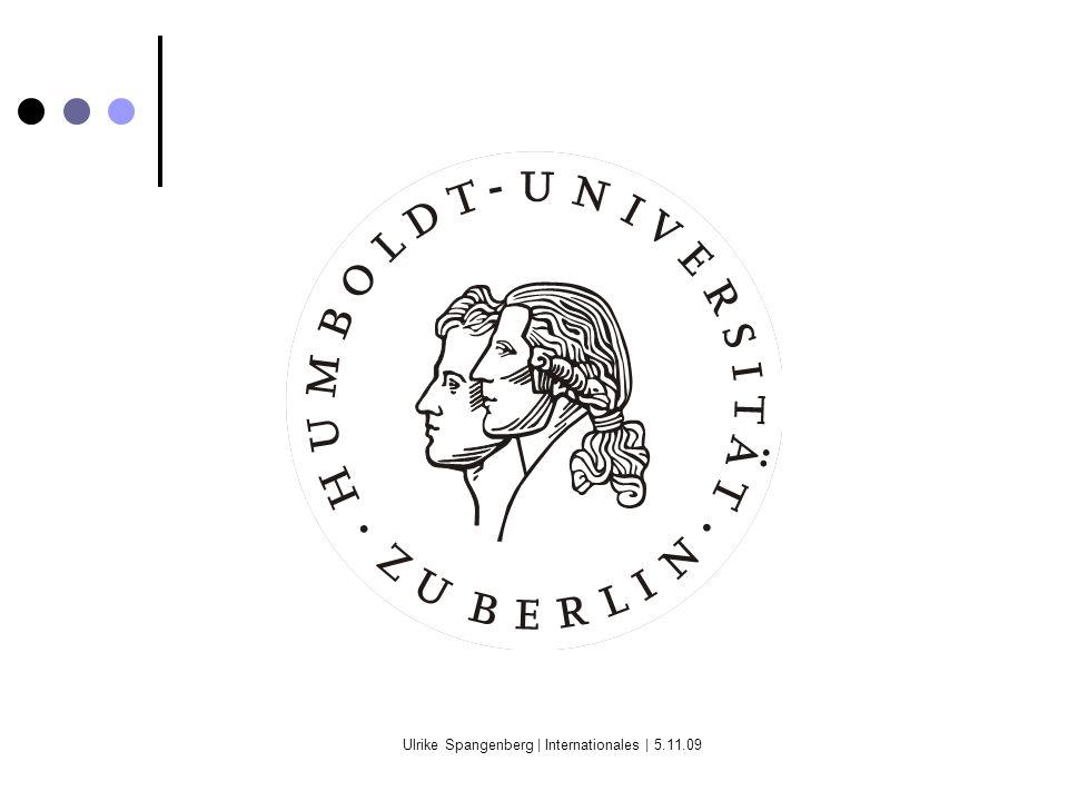 Ulrike Spangenberg | Internationales | 5.11.09