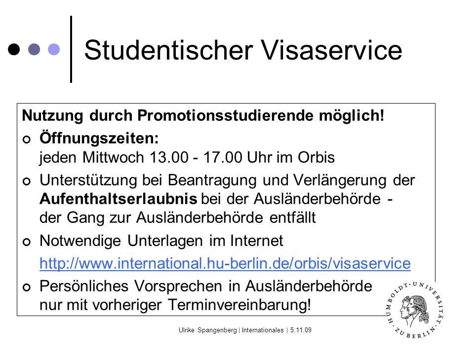 Studentischer Visaservice