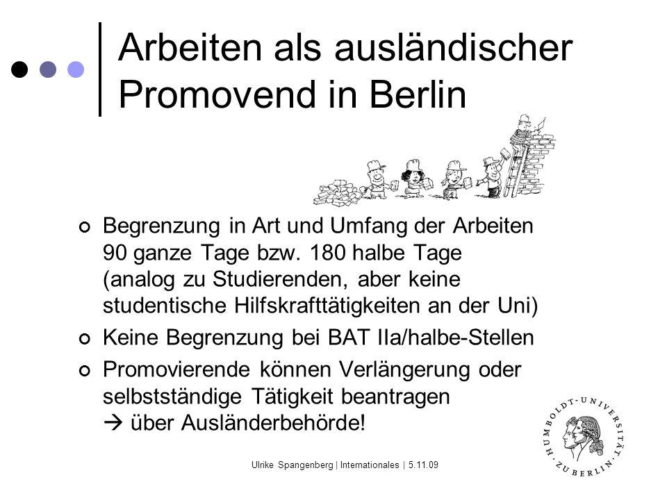 Arbeiten als ausländischer Promovend in Berlin