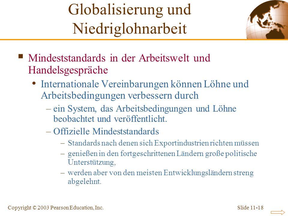 Globalisierung und Niedriglohnarbeit
