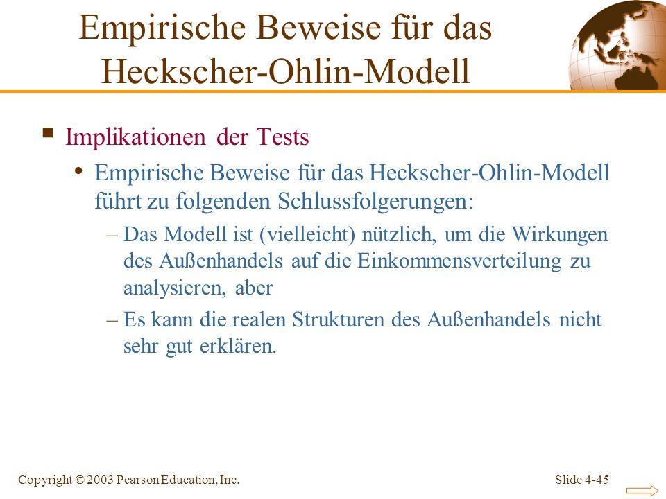 Empirische Beweise für das Heckscher-Ohlin-Modell
