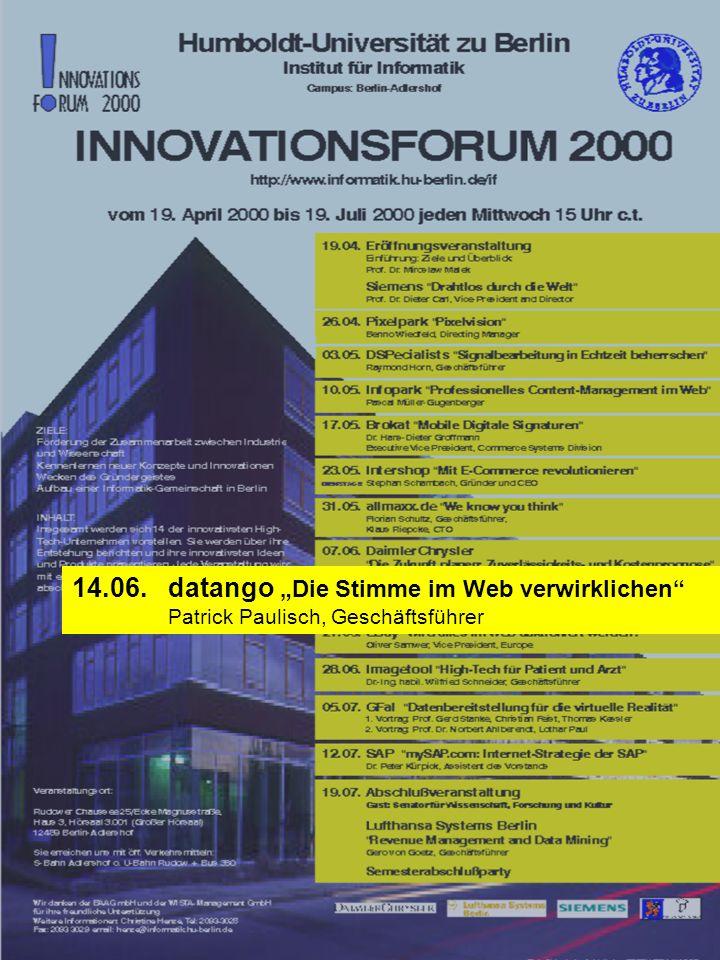 """14.06. datango """"Die Stimme im Web verwirklichen"""