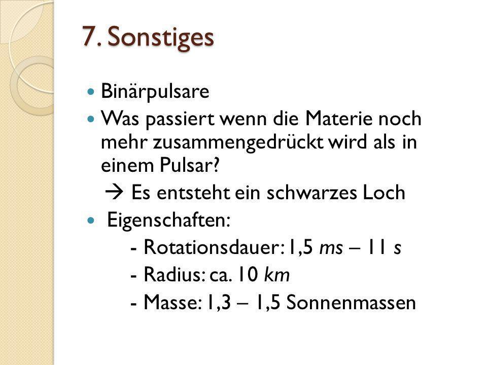 7. Sonstiges Binärpulsare