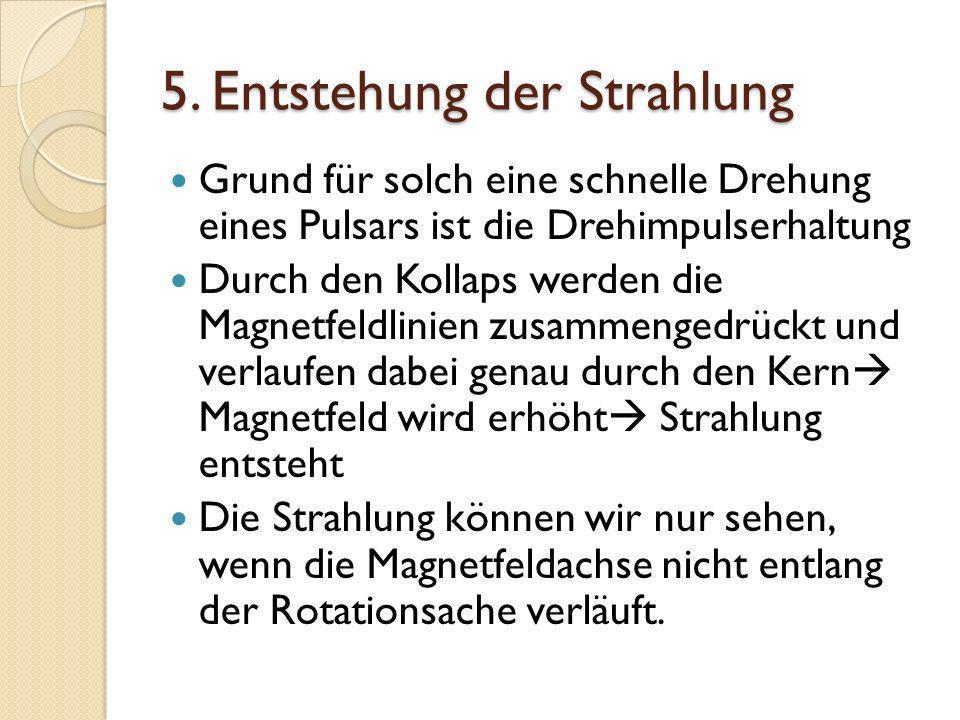 5. Entstehung der Strahlung