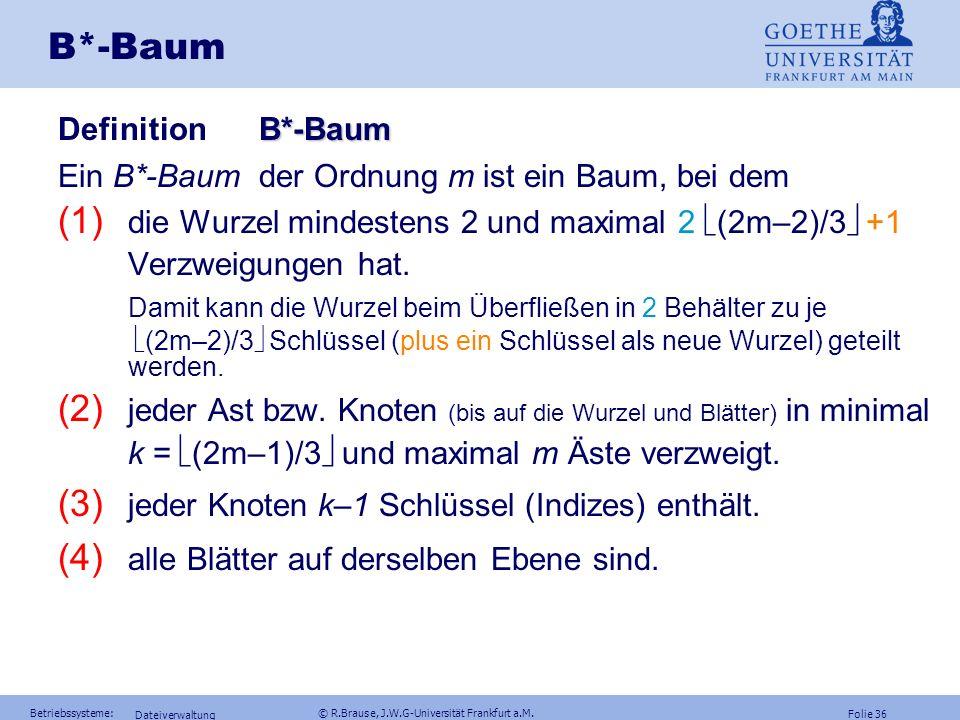 B*-Baum Definition B*-Baum