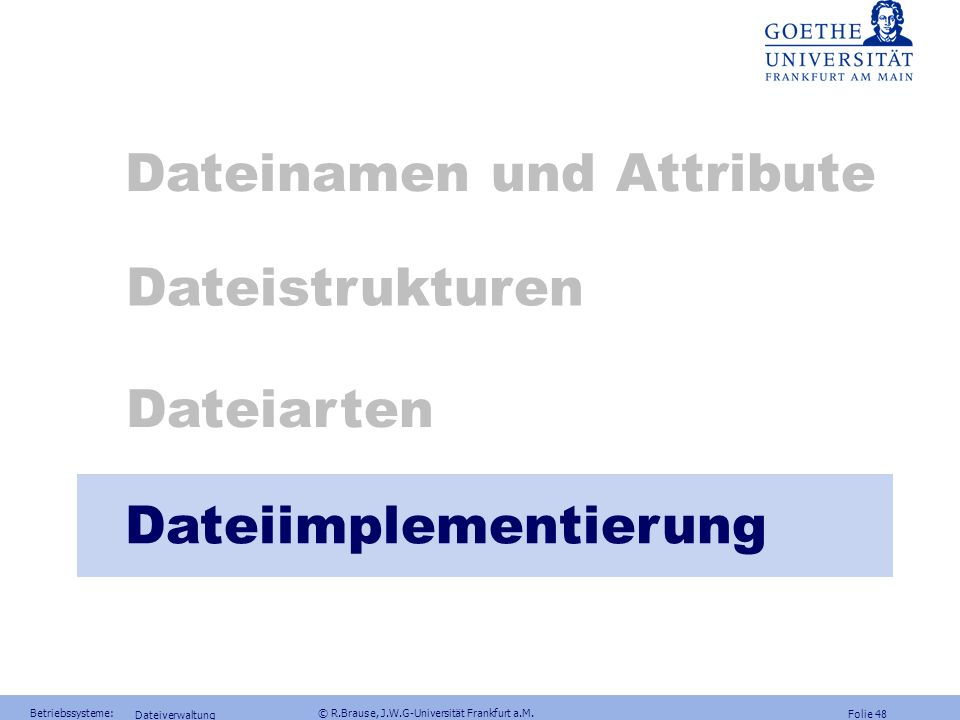 Dateinamen und Attribute