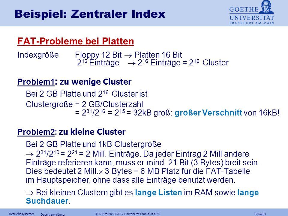 Beispiel: Zentraler Index