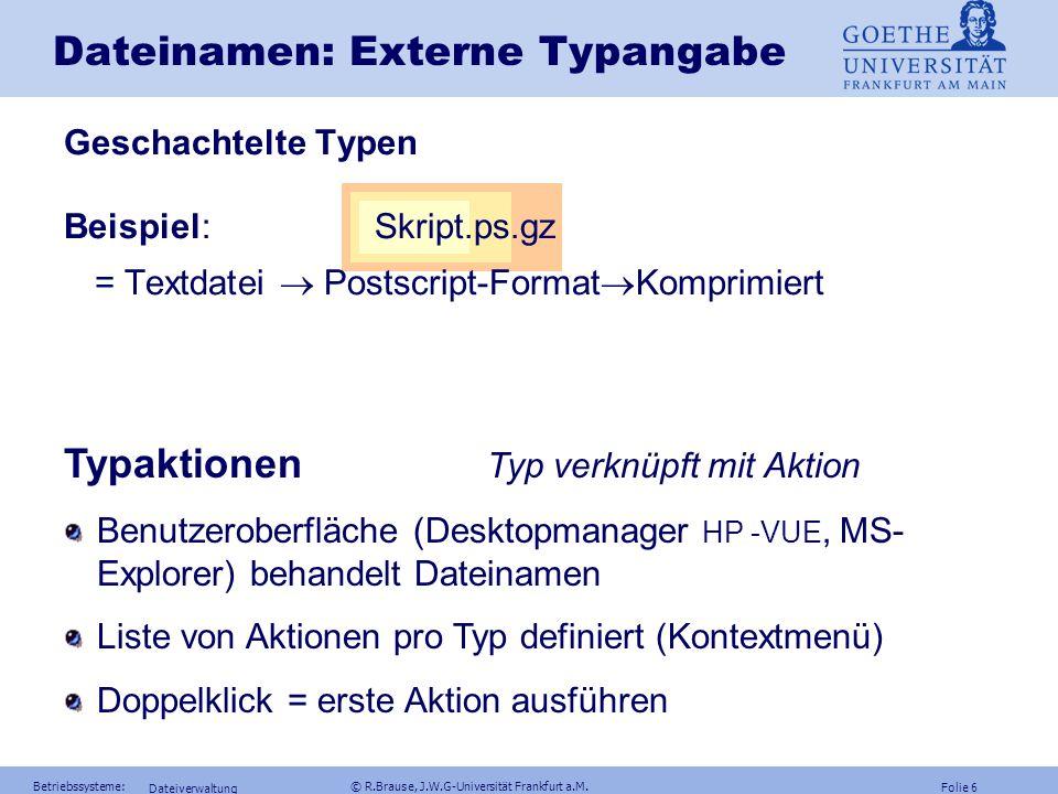 Dateinamen: Externe Typangabe