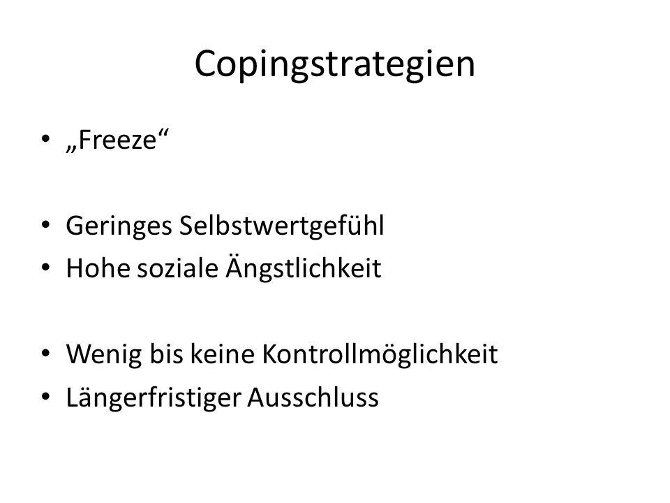 "Copingstrategien ""Freeze Geringes Selbstwertgefühl"