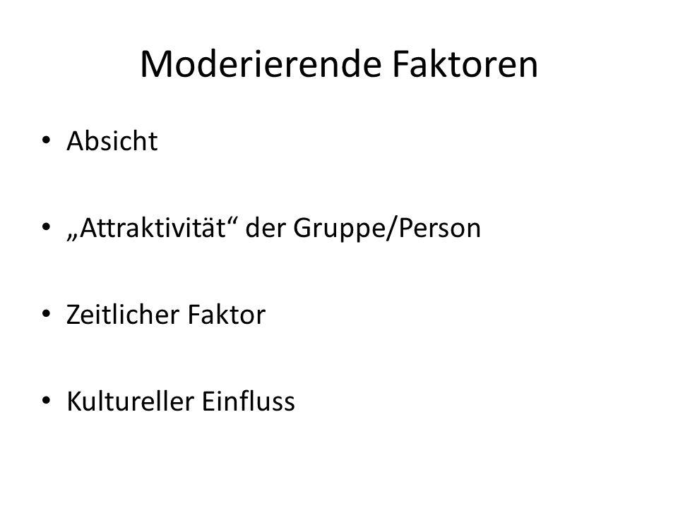Moderierende Faktoren