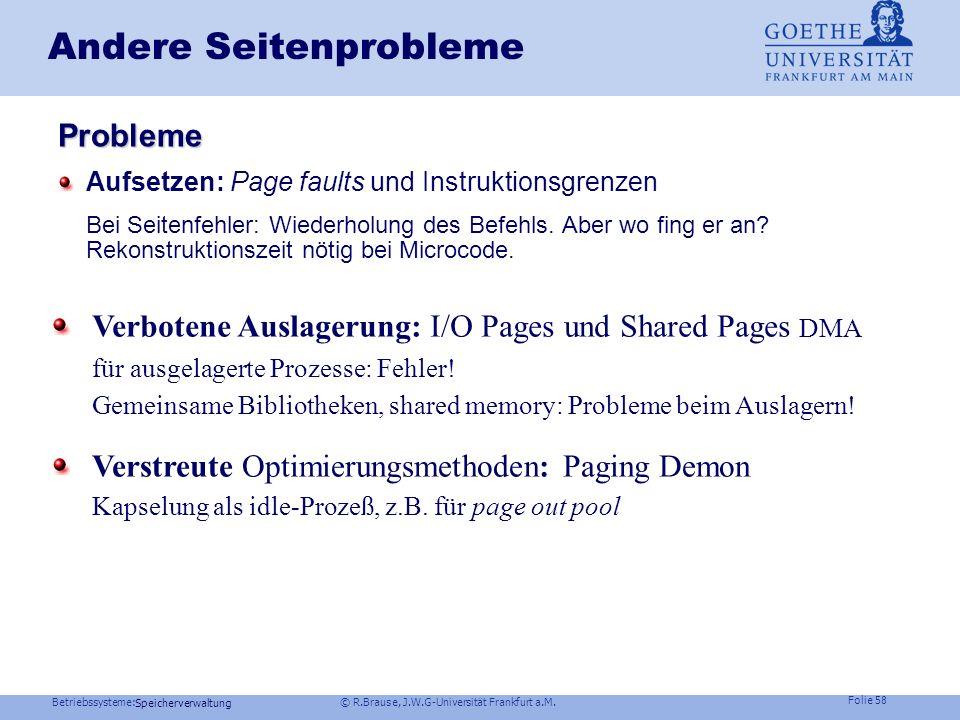 Andere Seitenprobleme