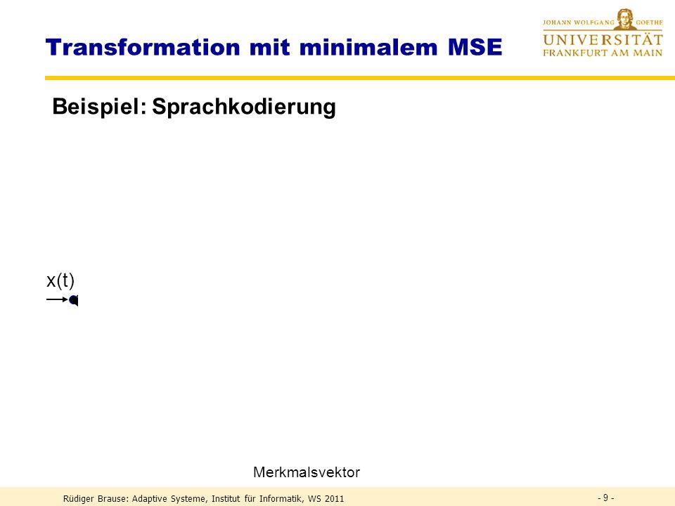 Transformation mit minimalem MSE