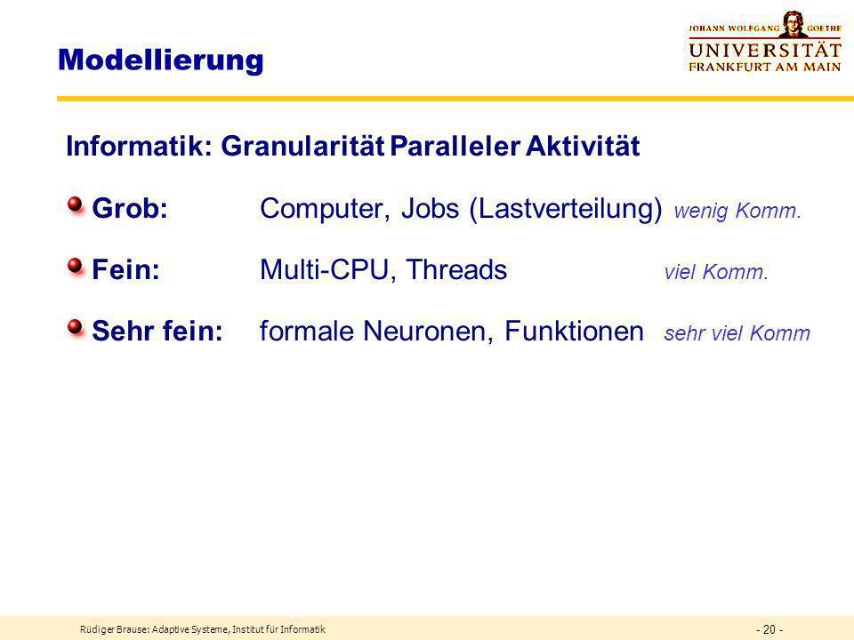 Modellierung Informatik: Granularität Paralleler Aktivität