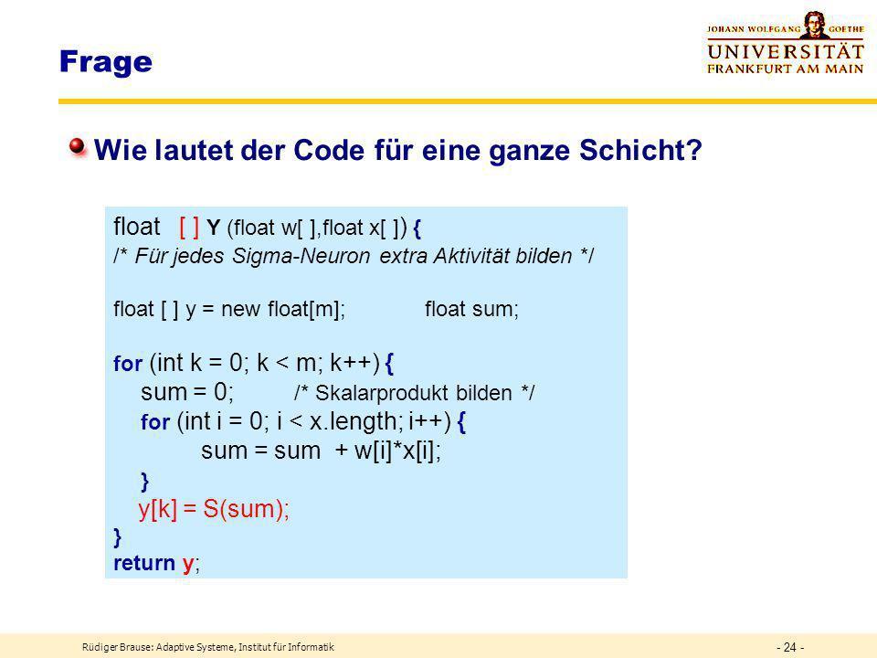 Frage Wie lautet der Code für eine ganze Schicht