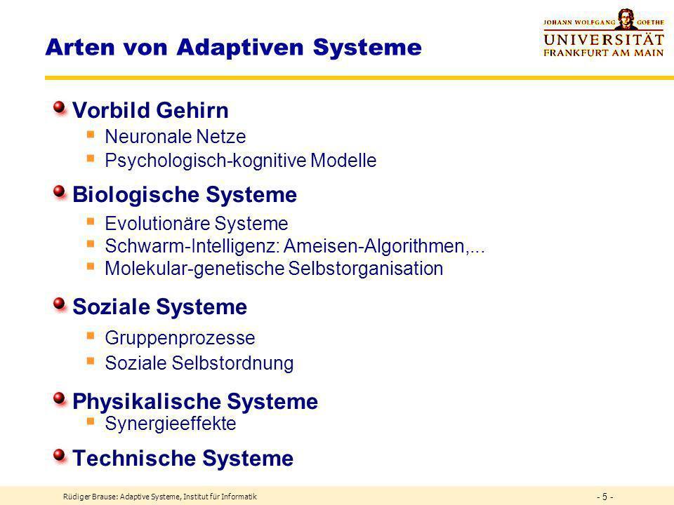 Arten von Adaptiven Systeme