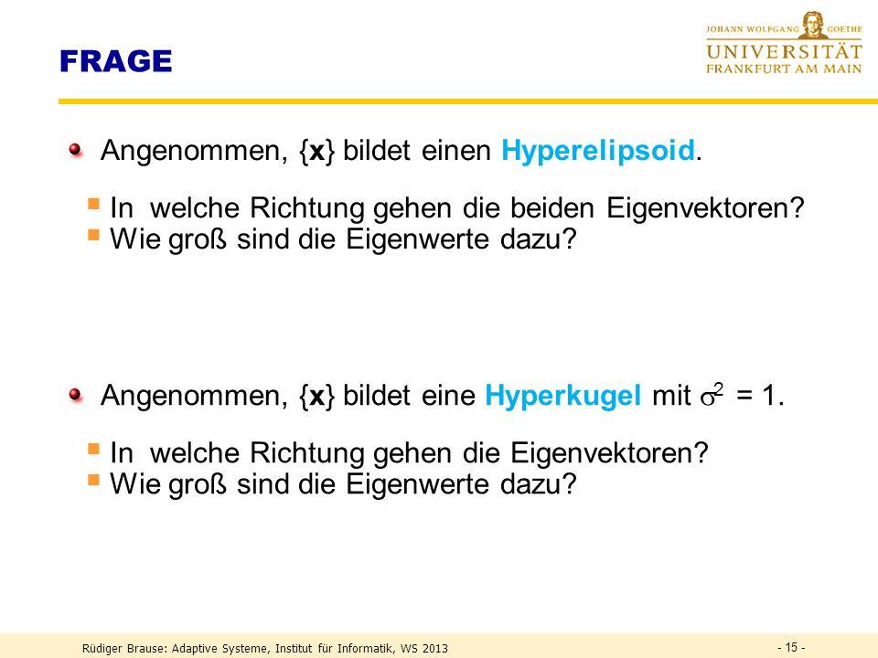 FRAGE Angenommen, {x} bildet einen Hyperelipsoid.