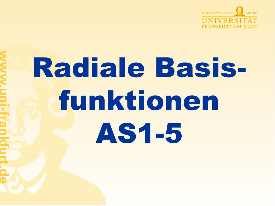 Radiale Basis-funktionen AS1-5