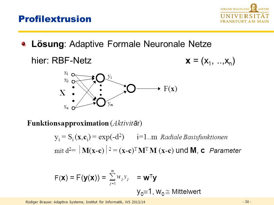 Lösung: Adaptive Formale Neuronale Netze