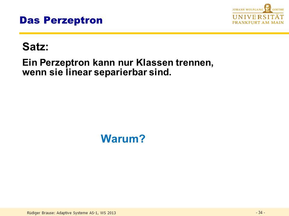 Satz: Warum Das Perzeptron