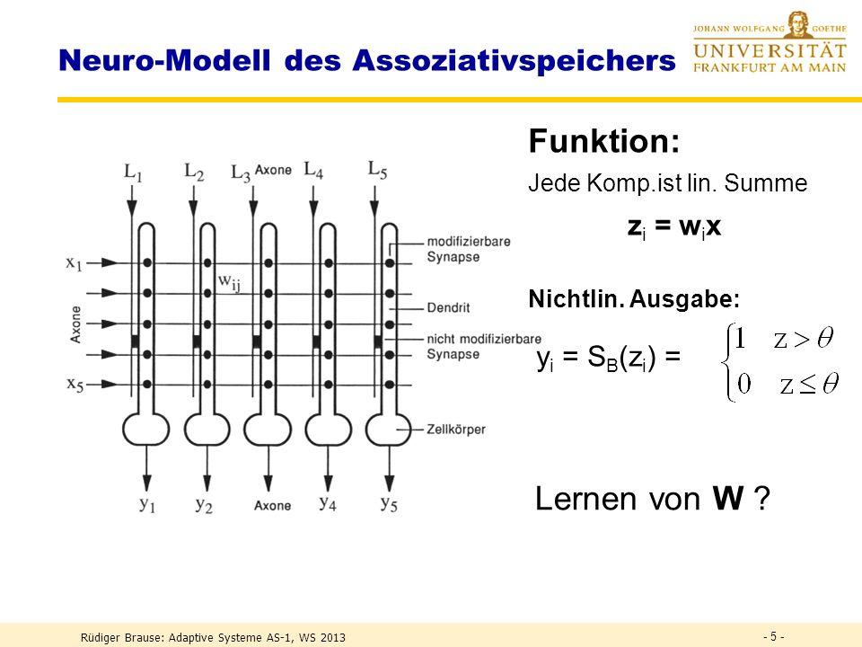 Neuro-Modell des Assoziativspeichers