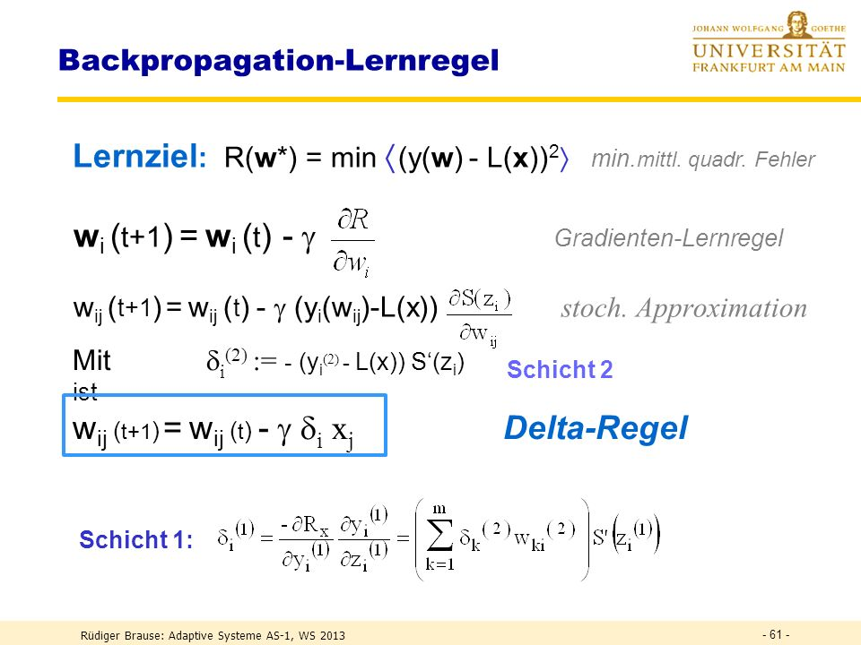 Backpropagation-Lernregel