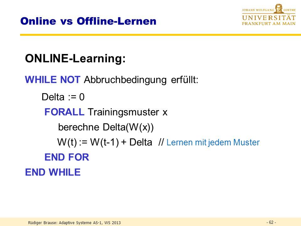 Online vs Offline-Lernen