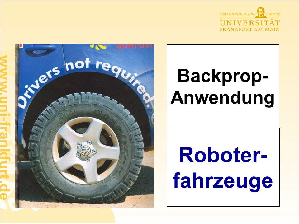 Backprop-Anwendung Roboter-fahrzeuge
