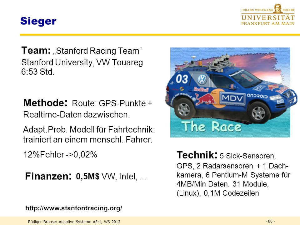 "Sieger Team: ""Stanford Racing Team"