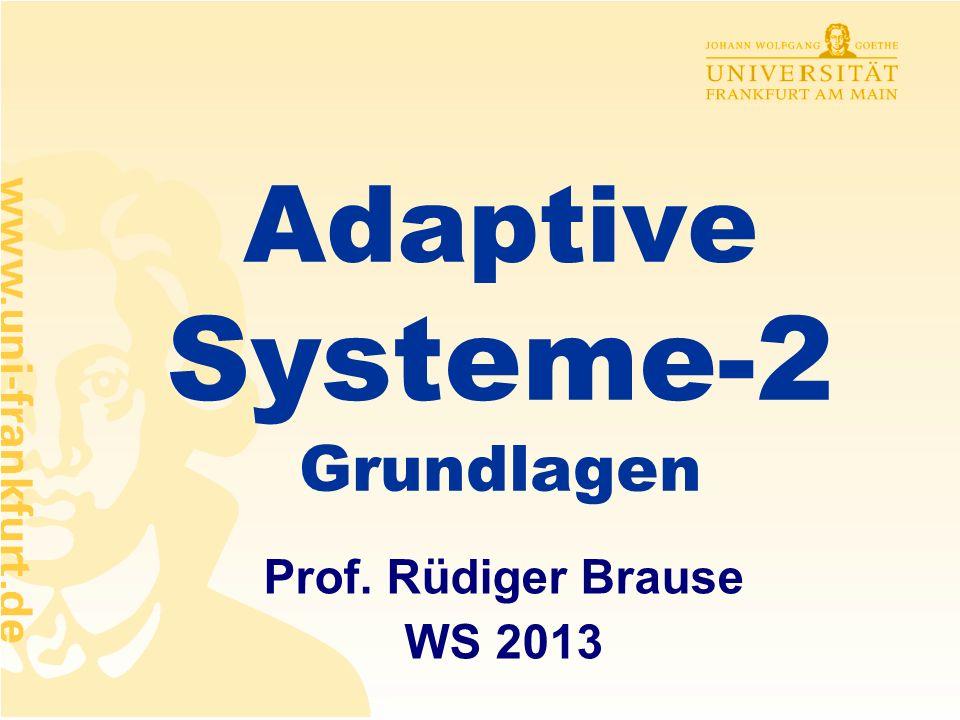 Adaptive Systeme-2 Grundlagen