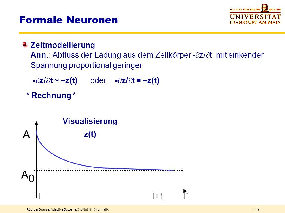 A A0 Formale Neuronen Zeitmodellierung