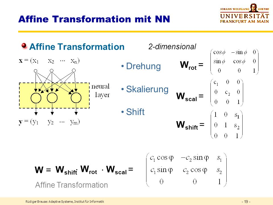 Affine Transformation mit NN