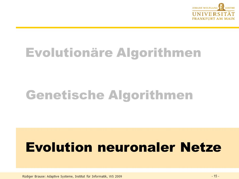 Evolution neuronaler Netze