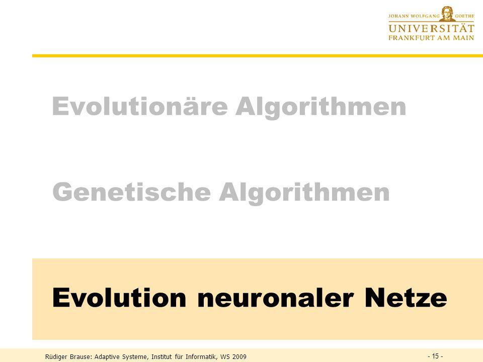 Evolution neuronaler Netze