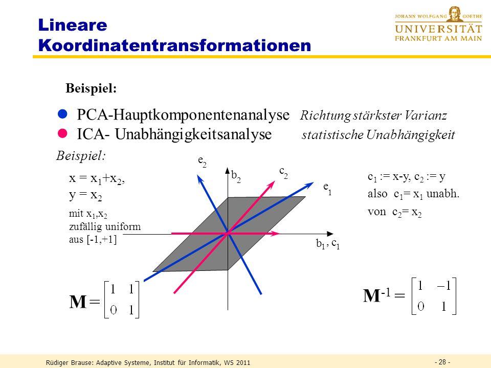 Lineare Koordinatentransformationen