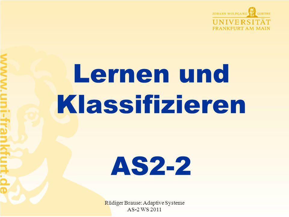 Lernen und Klassifizieren AS2-2