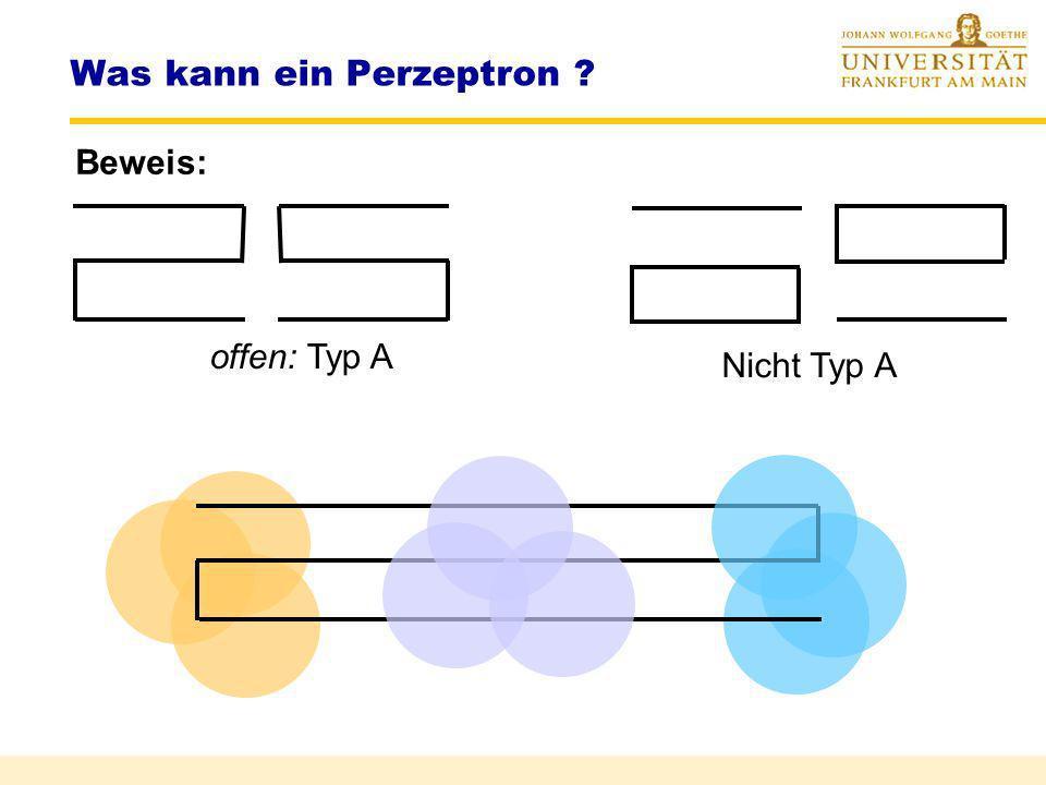 Was kann ein Perzeptron