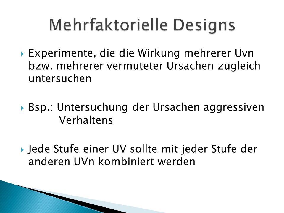 Mehrfaktorielle Designs