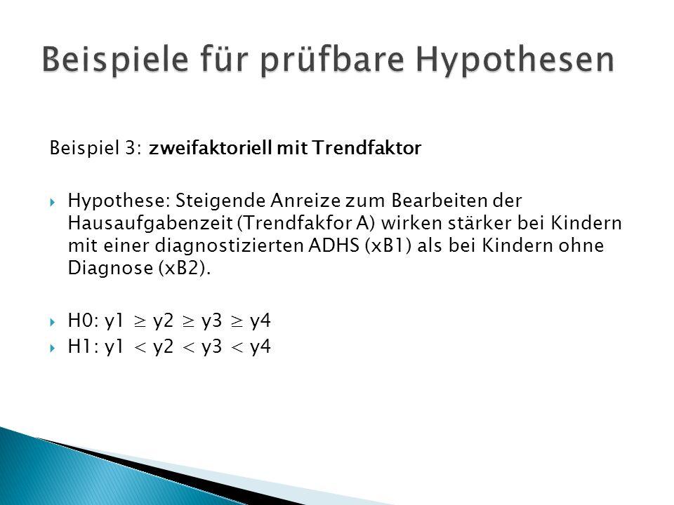 Beispiele für prüfbare Hypothesen