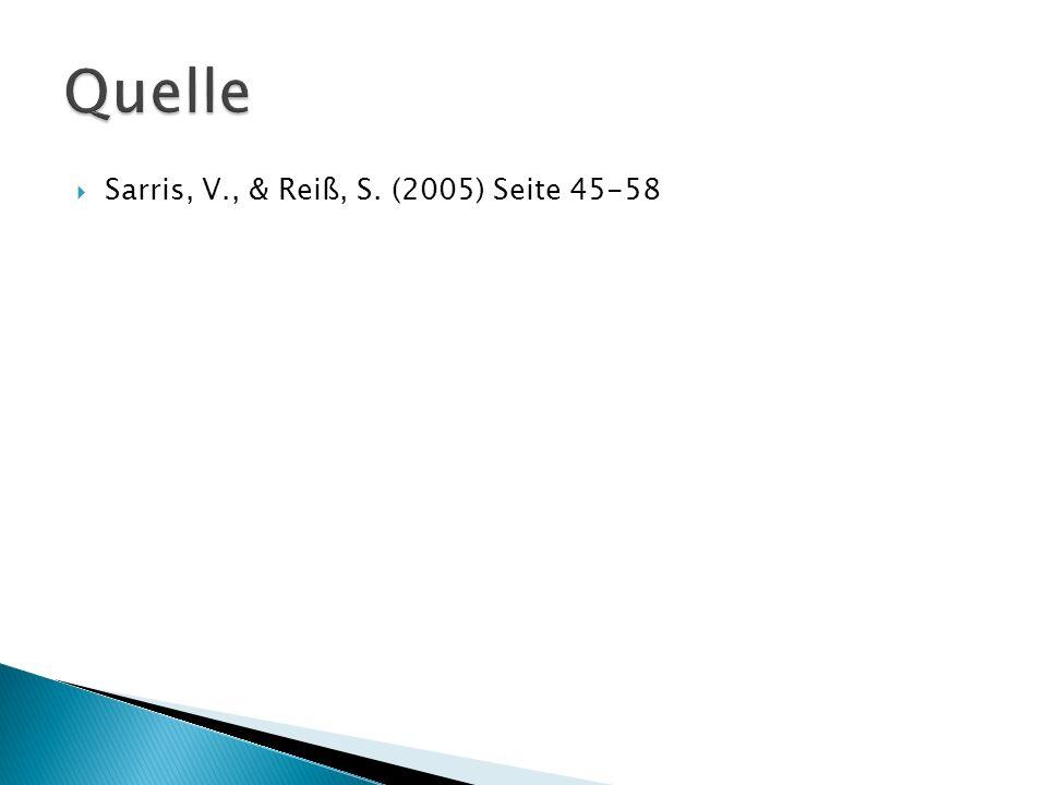 Quelle Sarris, V., & Reiß, S. (2005) Seite 45-58