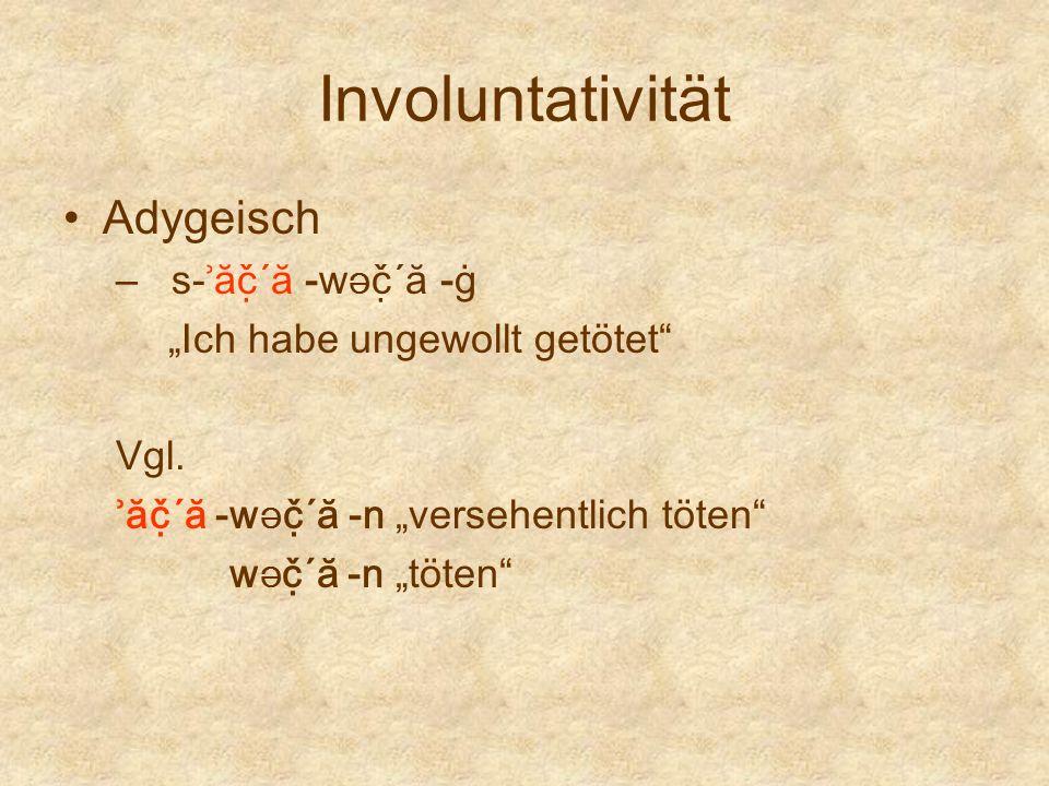 Involuntativität Adygeisch s-ʾăč̣´ă -wƏč̣´ă -ġ