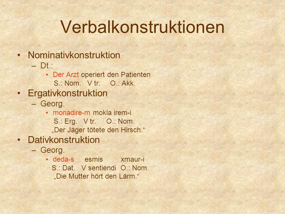 Verbalkonstruktionen