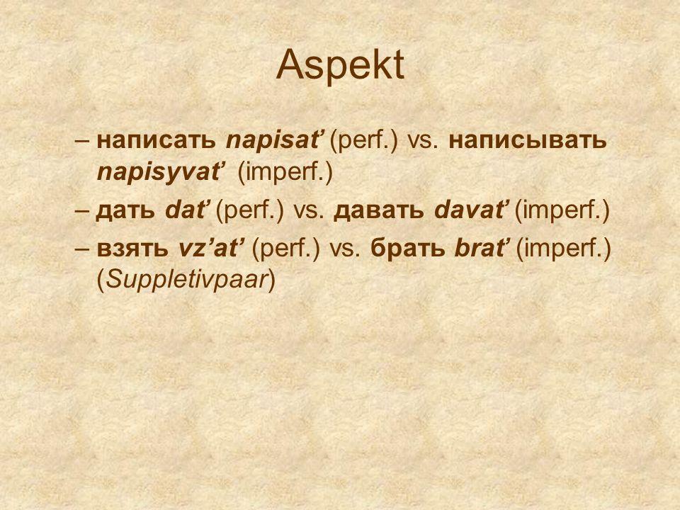 Aspekt написать napisať (perf.) vs. написывать napisyvať (imperf.)