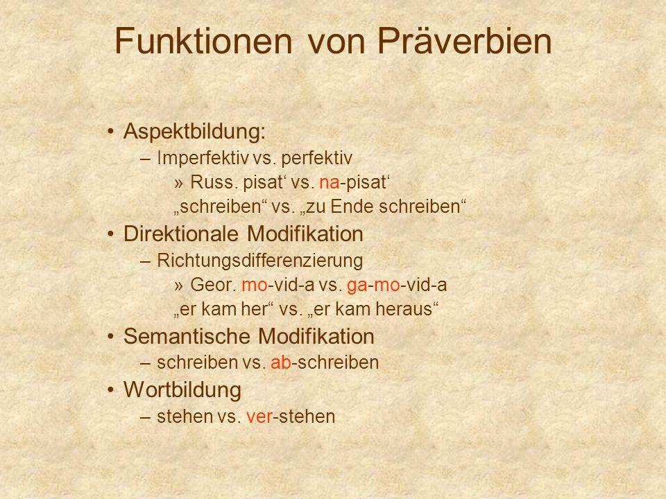 Funktionen von Präverbien
