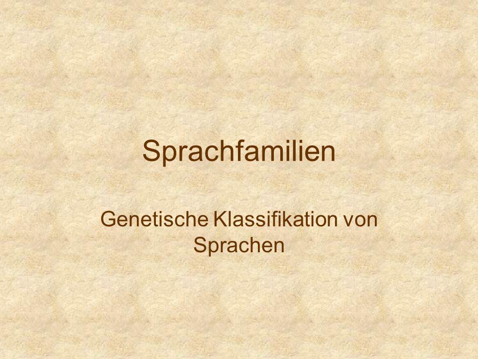 Genetische Klassifikation von Sprachen