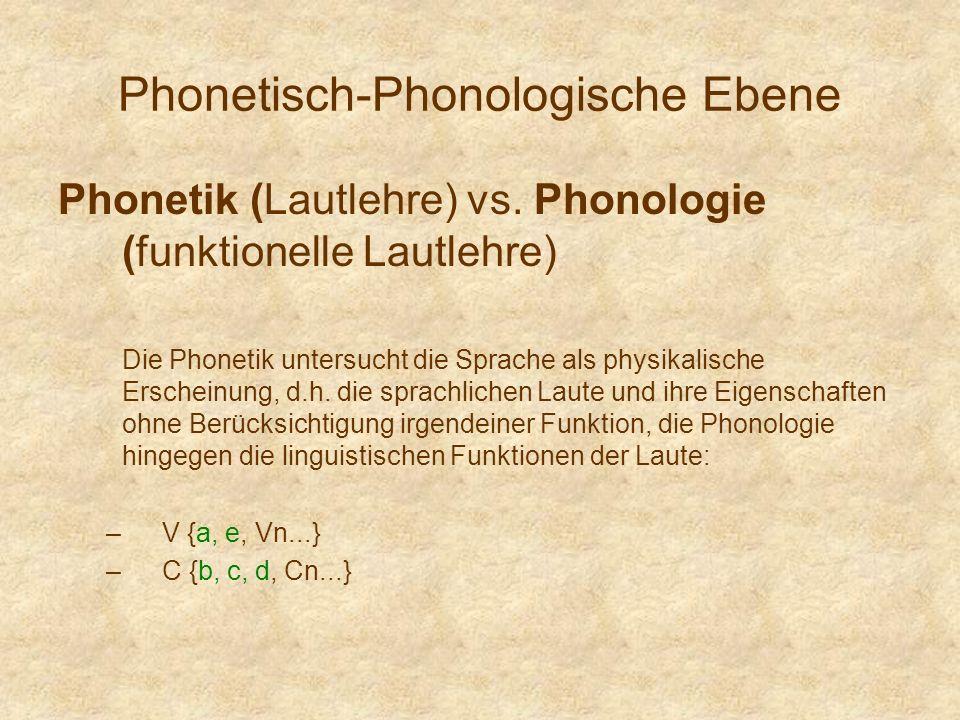 Phonetisch-Phonologische Ebene