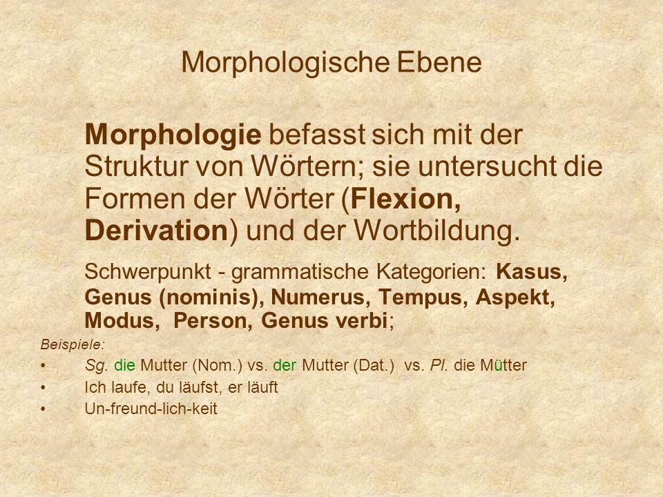Morphologische Ebene