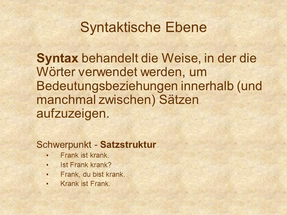 Syntaktische Ebene